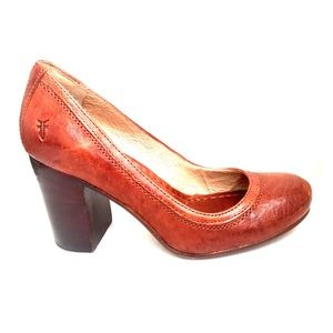 Gorgeous Frye Pumps with Chunky Heel